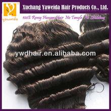 100 european remy virgin human hair weft deep wave wholesale