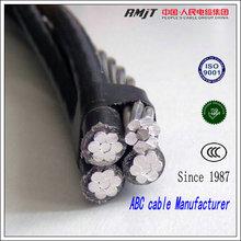 Low voltage aluminum conductor xlpe/pvc insulation 4 core aerial bundle xlpe abc cable