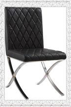 modern furniture black PU leather dinner chair