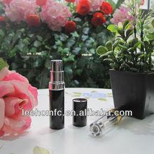 Black aluminum travel 5ml refillable perfume bottle