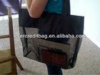 Black Mesh Tote - Extra LG Shopping Bag Beach Consultant See Through Nylon