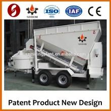 Mobile concrete mixer plant with CE