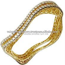 Designer Diamond Yellow Gold Bangles