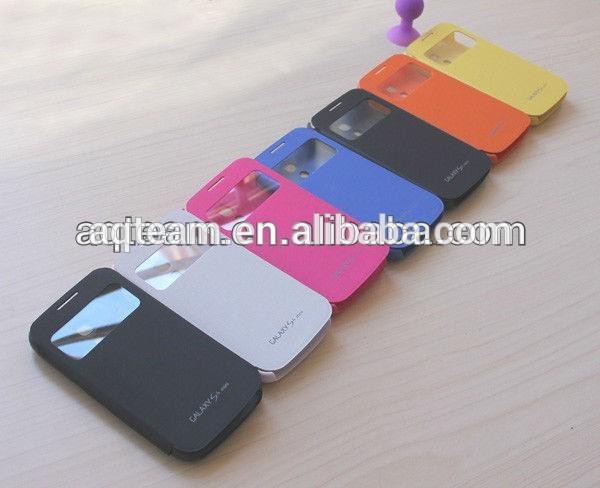 Clearance Goods Smart Wake Sleep PU Leather Flip Case for Samsung Galaxy S4 Case