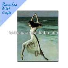 dancing girl oil painting