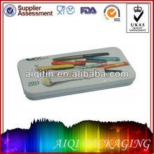 rectangular tin pencil case/cases
