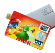 Brand new premium metal card 16GB USB flash Visa card sticks pendriver usb kreditni karta ipo