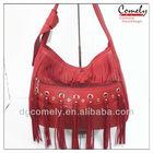 2015 handbag Comely red tassel ladies cheap shoulder bag purses and handbags ladies leather suit pink