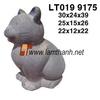 Vietnam Pottery Garden Ornament Stone Cat Statue