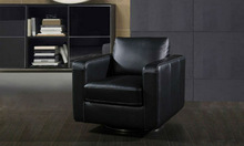 Genuine Leather Sofa Oak Wood Living Room Chair Frame Cheap Single Office Chair Sex Chair i12-9