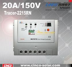 Tracer2215RN, 20a mppt solar charge controller 12v, DC Input MAX 150V, 20A 12V/24V MPPT
