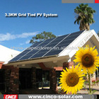 3.3kw on-grid solar power system solar energy system with cheap price