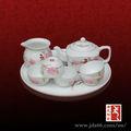 branco vidros jingdezhen moderna bules de cerâmica pintada à mão ofício