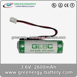 er14505 aa lithium battery best price lithium battery 2600mAh 3.6v battery