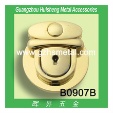 High quality fashion metal turn lock Decorvative Insert Lock for bag accessories