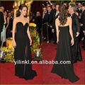 Sexy negro Sweetheart raja del colmo acanalada gasa de Angelina Jolie en vestidos venta