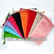 Customize logo velvet fabric bag ,Velvet bag for gift