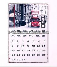 MA-1 Wholesale Home decor metal perpetual calendar