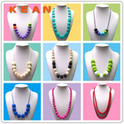 Food-safe Mom Nursing Chewable Jewelry Silicone Baby Teething Necklace Wholesale