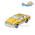 Crianças diy 3d modelos de papel brinquedo do carro de táxi