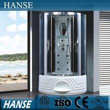 HS-SR057 corner jet shower bath/ corner tub shower/ blue glass shower room
