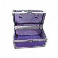 RZ-TSP14,Purple Wholesale Professional Acrylic Makeup Cases,Portable Hair Stylist Beauty Cases