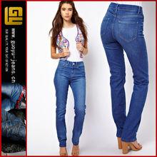 Straight leg jeans in vintage true blue straight leg jeans(GYX0750)