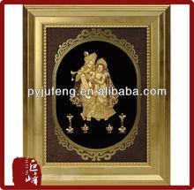 3D gold foil radha krishna frame hot selling in dewali