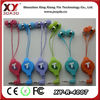 retractable cable earphone with mic custom logo color and packing.