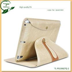 pu leather mobile phone case for ipad mini, Leather Case for ipad cover skin stand case smart cover
