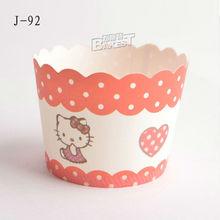 baking supplier medium size muffin paper cake cup J-92# BAKEST 70*60*55MM
