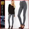high waist denim tube pants in grey women elastic bottom jeans women sexy jeans wear european style jeans(GYX0786)