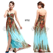 HE09752ZS Flora Printed Spaghetti Straps Newest Arrival Fashion 2013 Dresses Evening Made In China