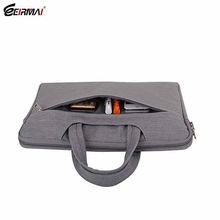 Black Denim fabric portable laptop bag