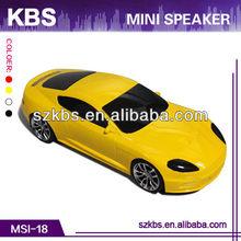 Factory direct sales mini car shaped speakers Material/plastic