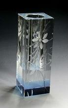 crystal vase for single golden rose glass vase decoration