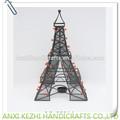 Lc-89314 decorativo metal de la torre eiffel con tealight titular de la vela