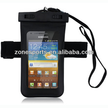 Waterproof Bag for Phone with armband and earphone output waterproof case