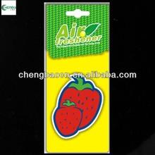 Custom Paper Air Freshener /Strawberry fragrance. For promoional