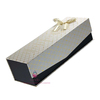 Custom beautiful style paper wine cases with ribbon decoration