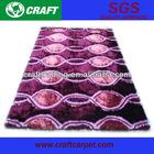 hand tufted purple shaggy moquette carpet