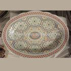 Arabic ceramic flat oval plate(0506-14OV)