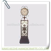 antique metal floor clock