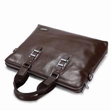 Brown Genuine Business Briefcase leather bag men