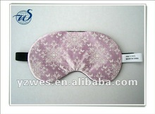 Factory made with customized full colour logo travel eye cover
