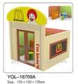 Los niños mcdonald's de madera casa de muñecas francés jugueteseducativos