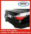 pièces d'auto spoiler de voiture arrière noir en fibre de carbone véritable pour BMW E60