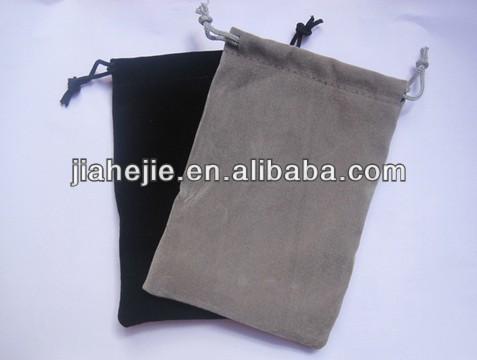 wholesaler velvet bag for mobile charger