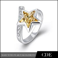Wholesale crystal fashion star opal ring