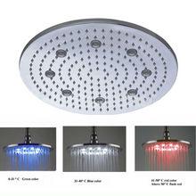 "Interesting 16"" round shower round led waterproof shower light"